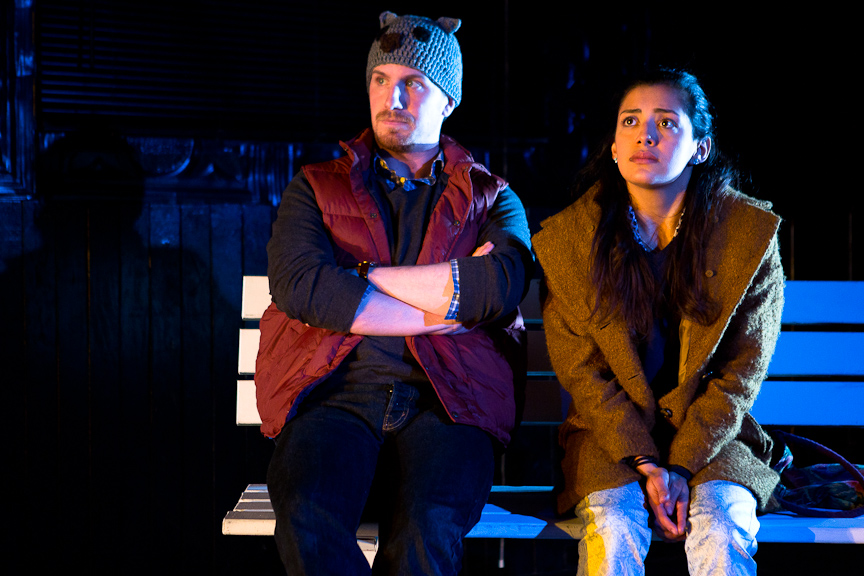 WHITE HOT // by Tommy Smith // directed by Courtney Ulrich  Lights // at the Flea Theatre