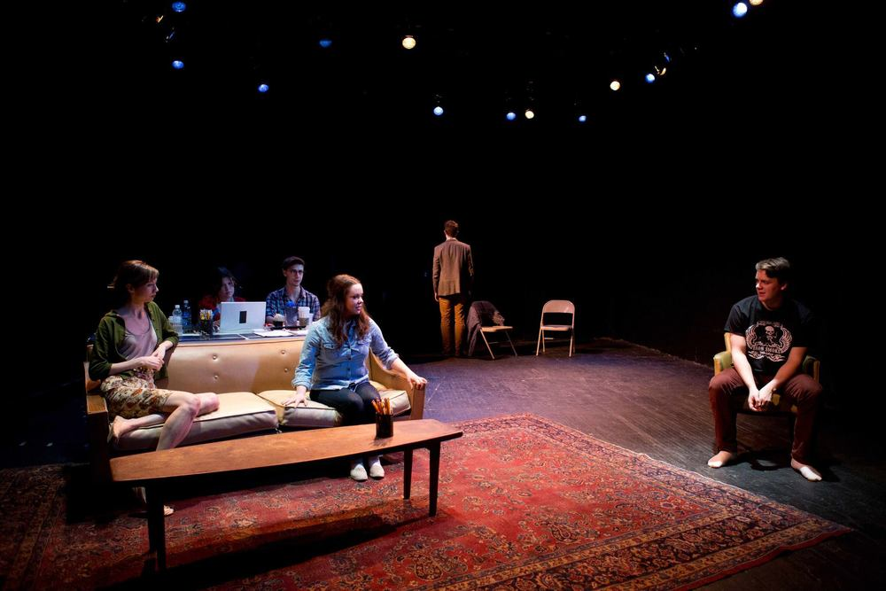 SET IN THE LIVING ROOM OF A SMALL TOWN AMERICAN PLAY By Jaclyn Backhaus