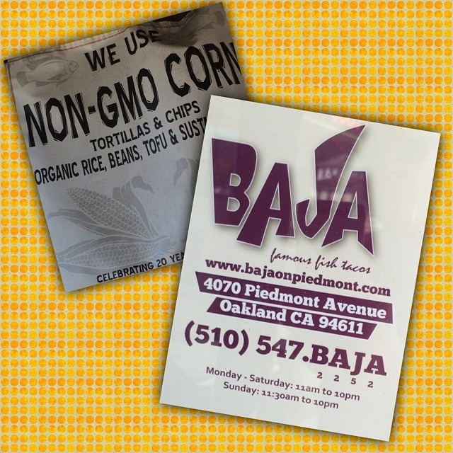 Deserves a shoutout: Baja Taqueria #Oakland #GF #glutenfree #nogmo #nongmo