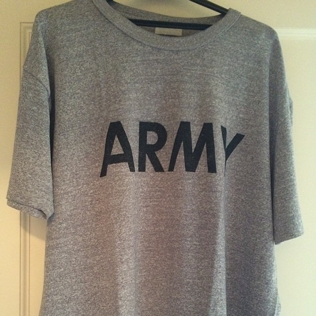Have any other #Army #veterans noticed that your old PT #tshirt is the most durable shirt you've ever owned? Going strong after 20+ years.