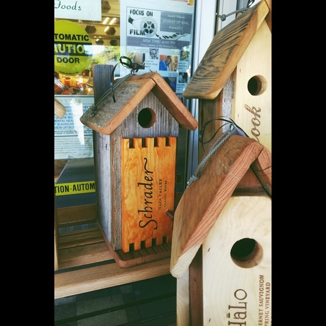 My #wine friends will appreciate these #birdhouses at #sunshinegrocery #sthelena #napavalley #vscocam legacy 8