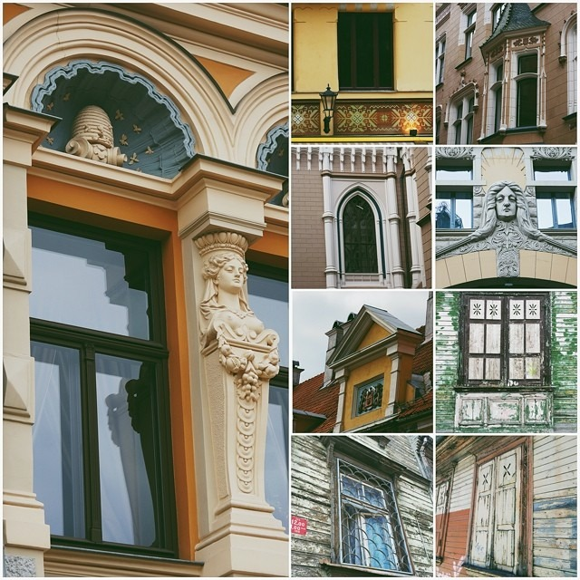 #Riga #windows #buildings #architecture #collage #mosaic #vscocam #mextures