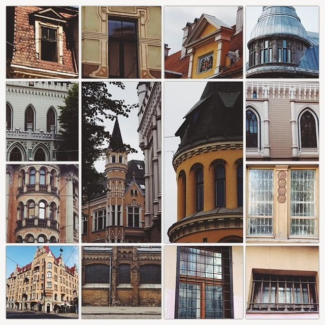 more #Riga #Latvia #windows #buildings #architecture #artnouveau #vscocam F3 #fuzel