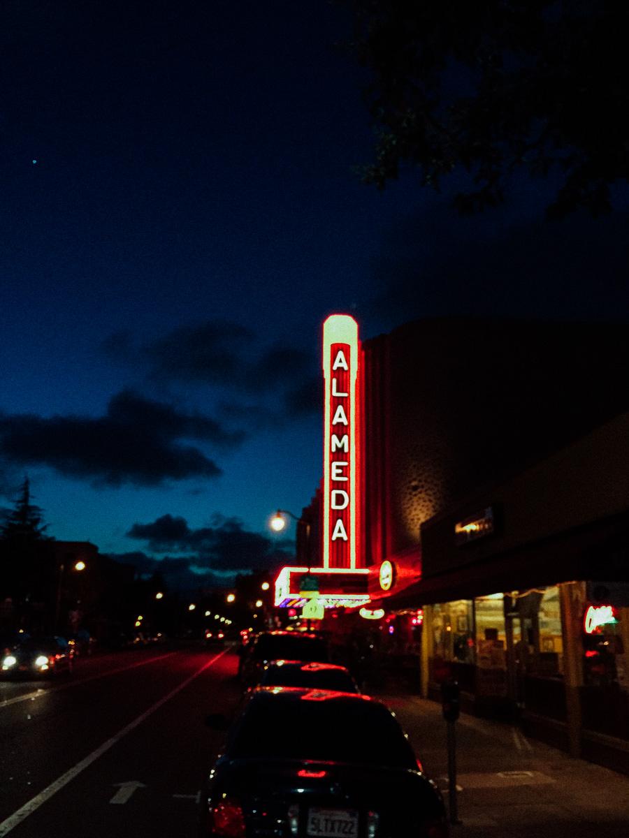 The beautifully restored 1932 Alameda, California movie theatre. (May 2015)