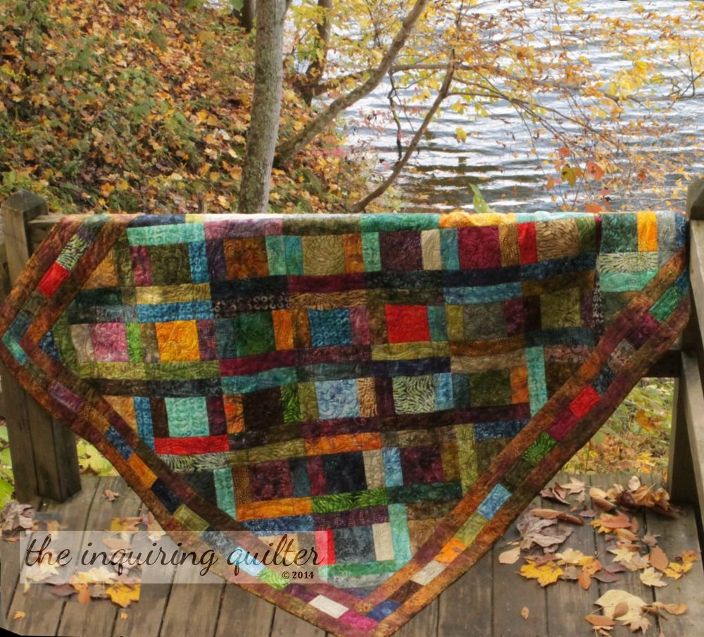 Life in the Tide Pool, a jelly roll and charm pack friendly quilt from  Idiot's Guides: Quilting