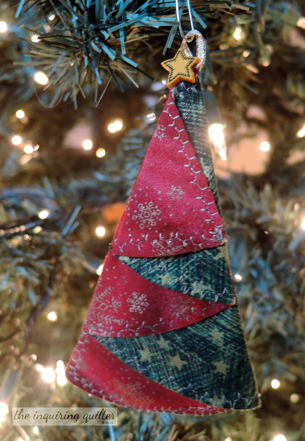 Folded Fabric Christmas Tree Ornament — The Inquiring Quilter