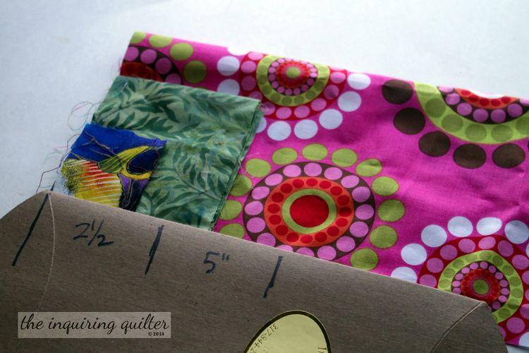 organising scrap fabric