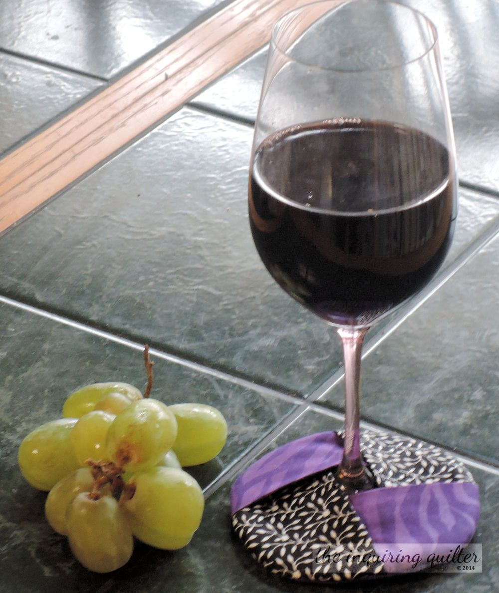 Day Eight: Insulated Fabric Wine Glass Coaster