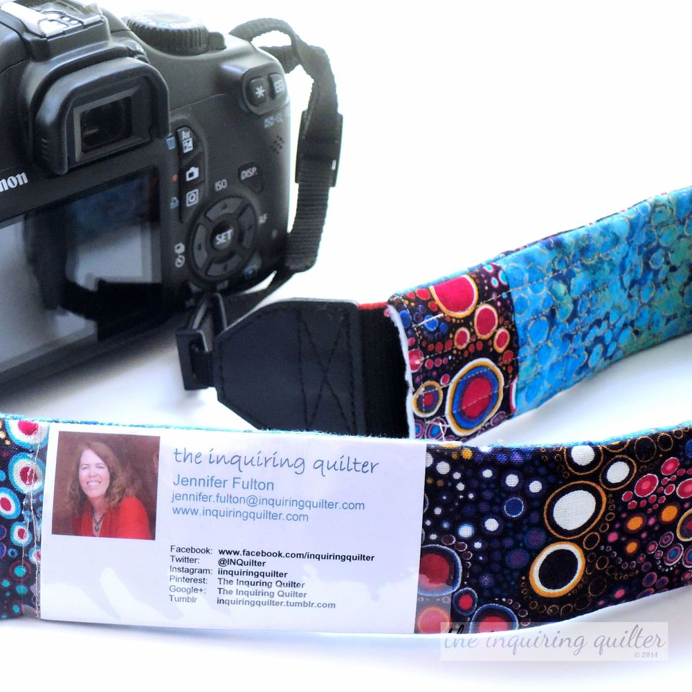 Day Twelve: Quilted Camera Strap Cover