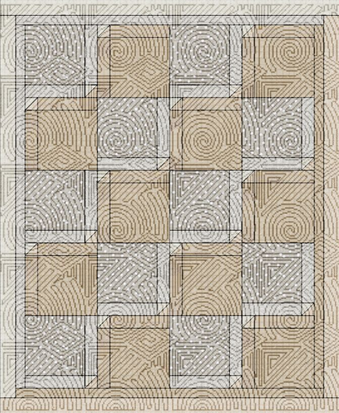 fractured diamonds with Modern quilting.jpg