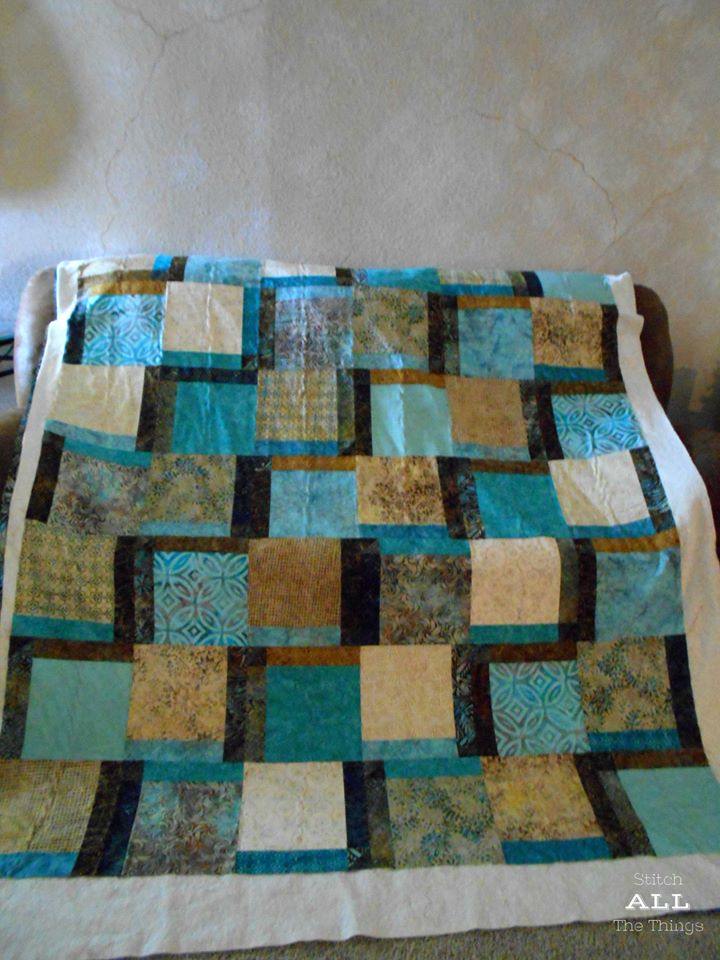 Christine Quilt 1 basted!