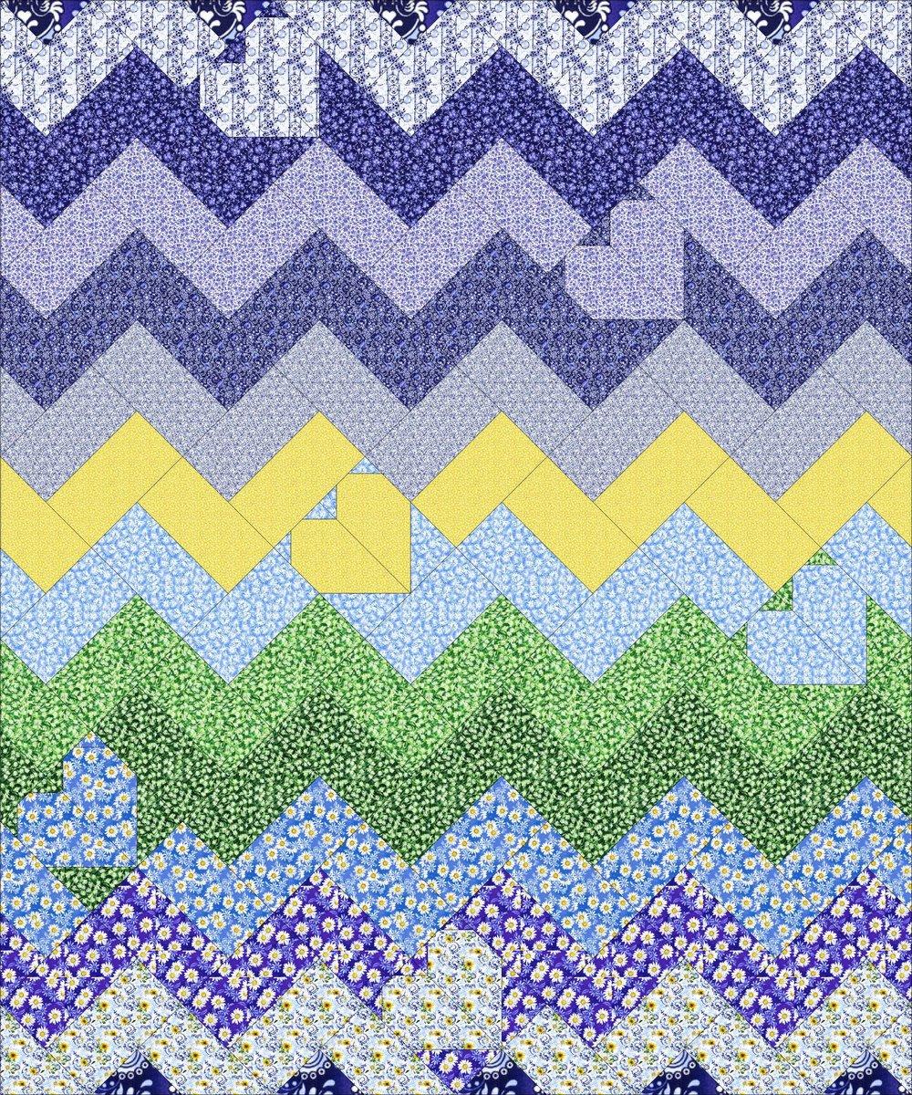 RJR Fabrics Daisy Blue by Flaurie & Finch