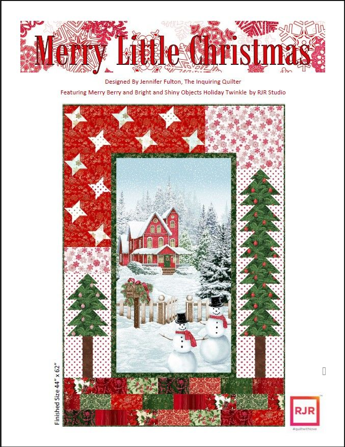 I Have Two New Patterns! — The Inquiring Quilter : christmas quilt fabric collections - Adamdwight.com