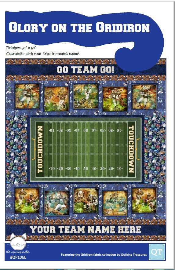 Glory on the Gridiron template