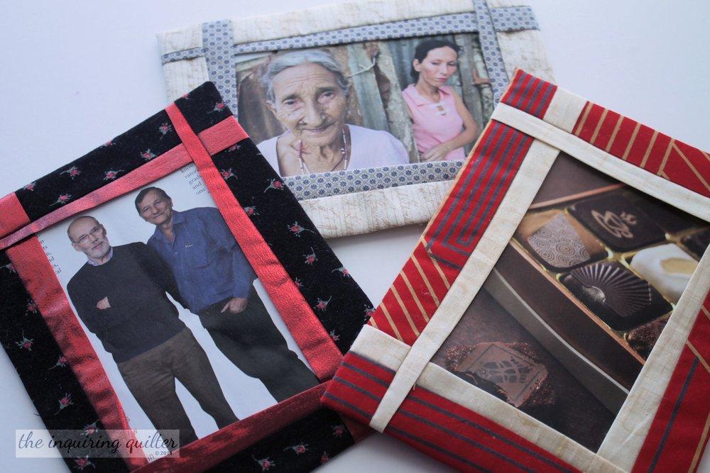 Folded Fabric Photo Frames