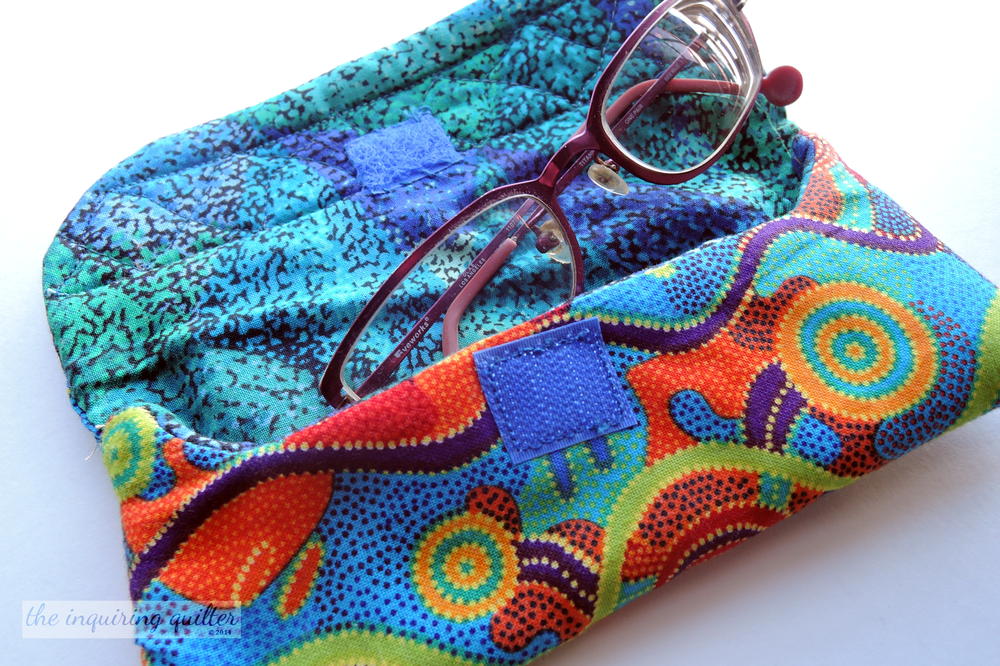 Quilted Fabric Eyeglass Case