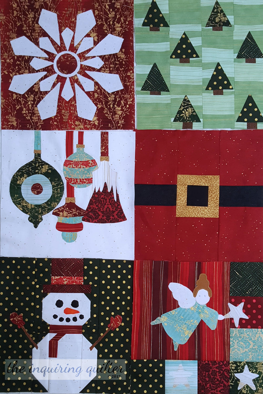 Blocks 1 through 6 - I Wish You a Merry Quilt Along