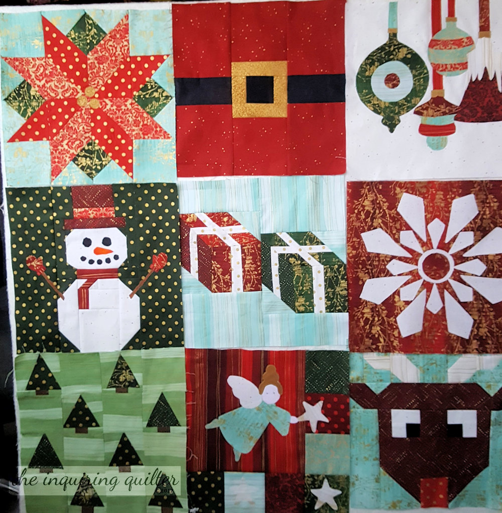 Blocks 1 through 9 - I Wish You a Merry Quilt Along