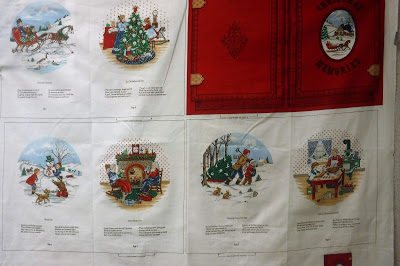 Christmas book panel quilt