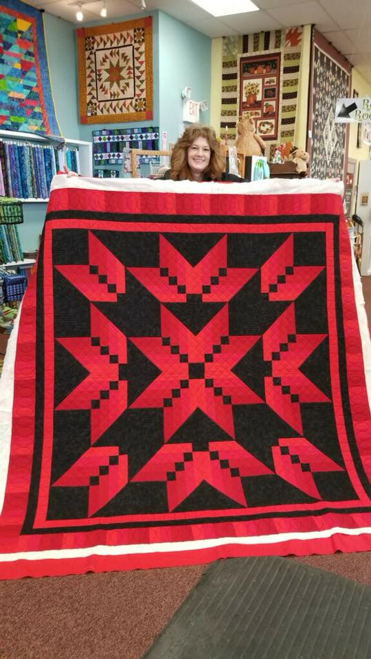 Katrina Jewula shared this dramatic quilt just the other day. I love those reds!