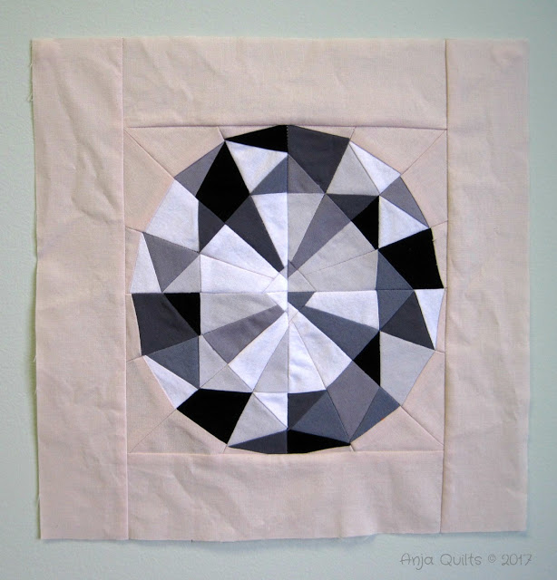 Anja's paper-pieced gem blocks from Week 2
