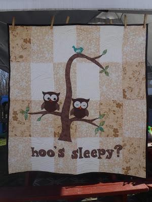 Anita's Hoo's Sleepy quilt from Week 5