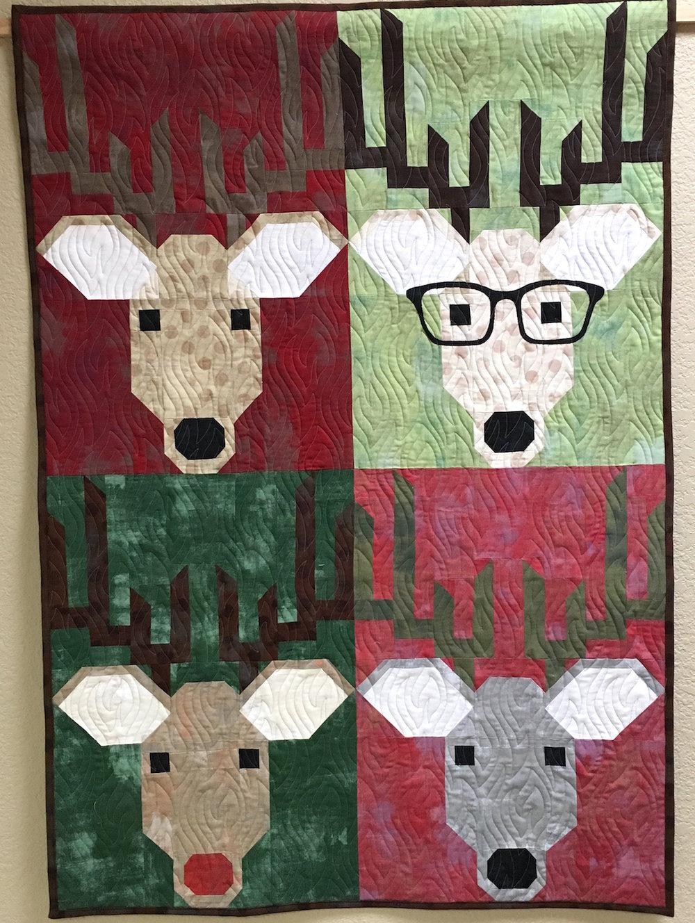 Ann's Dwight the Deer quilt from Week 42