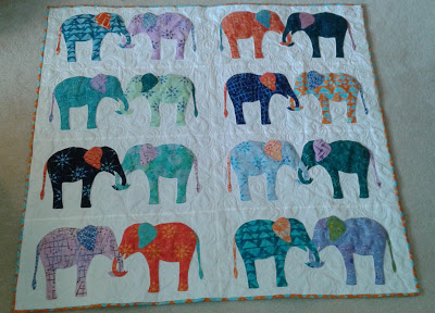 Suzy's elephant quilt from Week 34