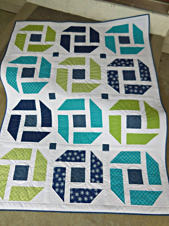 Vicki'es Cheerful quilt from Week 12