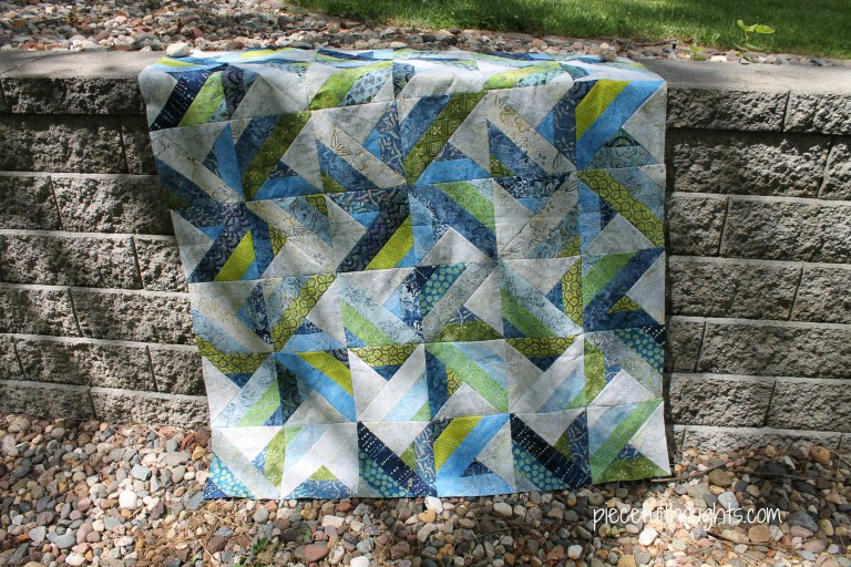 Wendy's batik quilt from Week 21