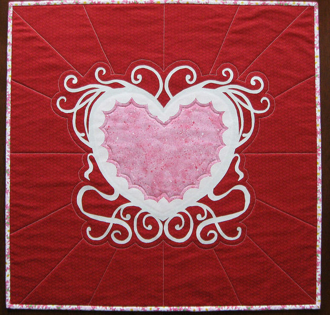 Deb's Valentine table topper