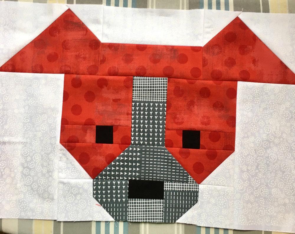 Ann's sample block--Lorna's design
