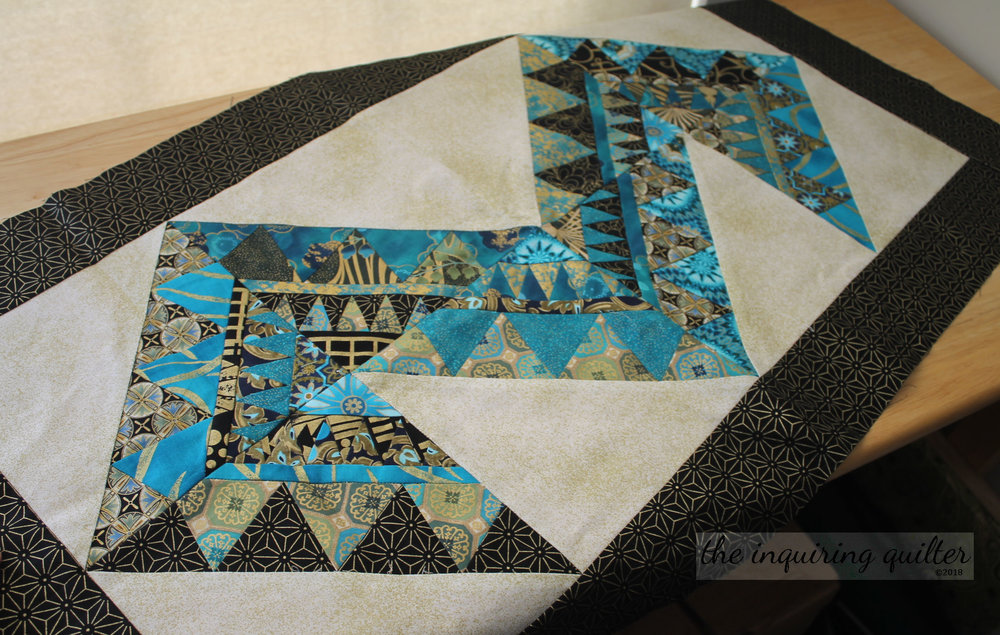 Mirage table runner - also included in the pattern