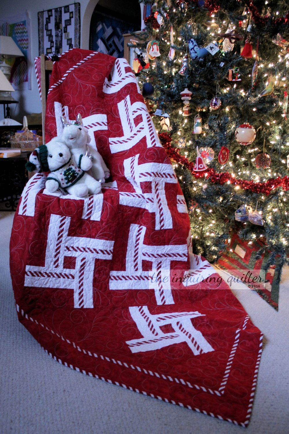 Peppermint Twist quilt - pattern in my book