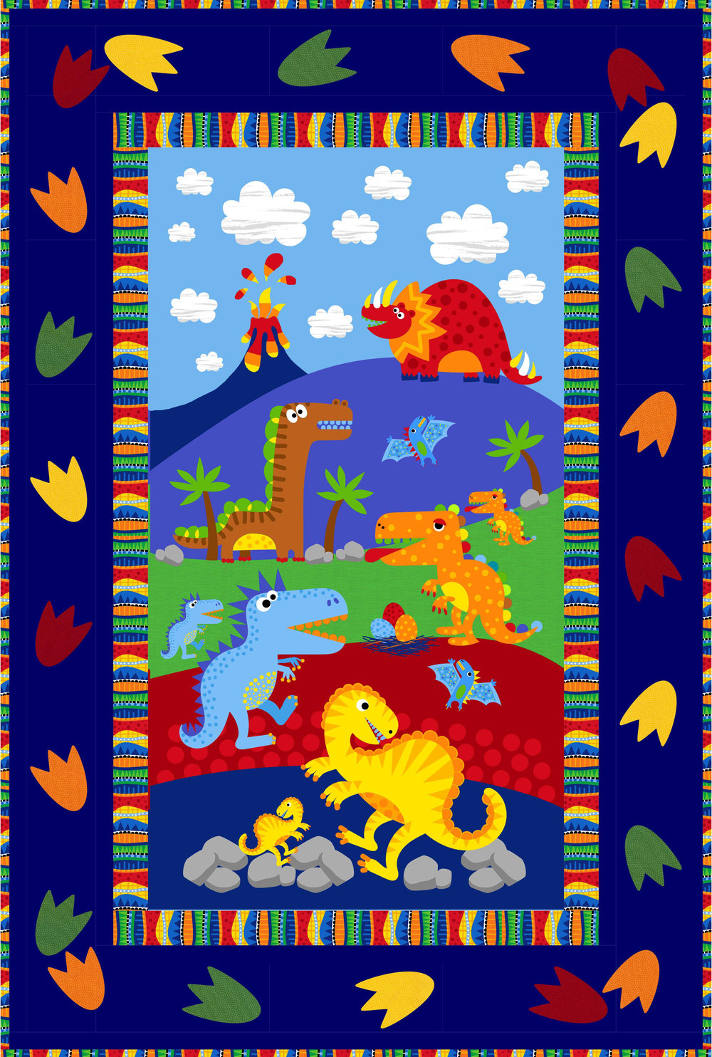 Dino Roar! featuring the Dino Parade collection by Timeless Treasures