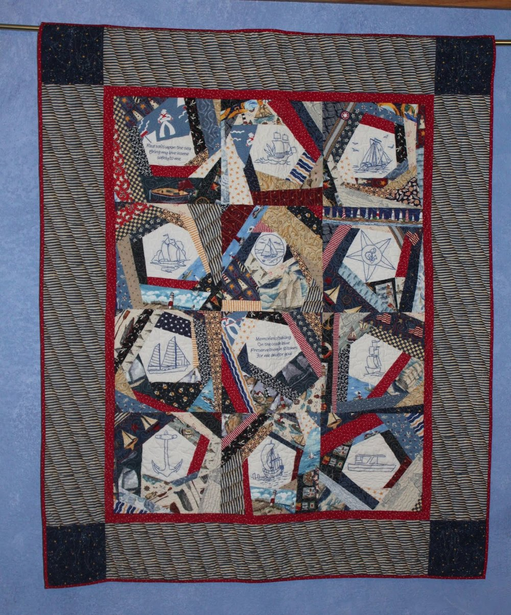 Karrin state fair quilt Crazy about Boating.jpg