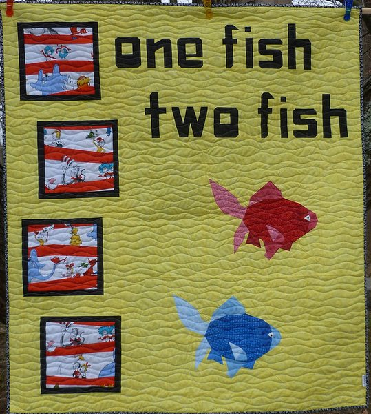 Lisa Marie One Fish Two Fish quilt fish by Janeen of Quilt Art Designs in Paper Piecing mag isse 9 letters by Sam Hunter Quilt Talk book.JPG