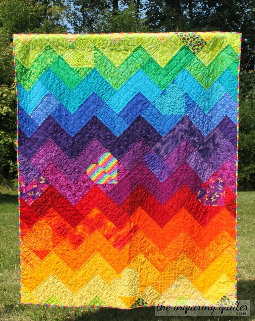 Charity is an integral part of Thanksgiving here, with the focus on feeding the hungry. Here's a quilt I made for charity.