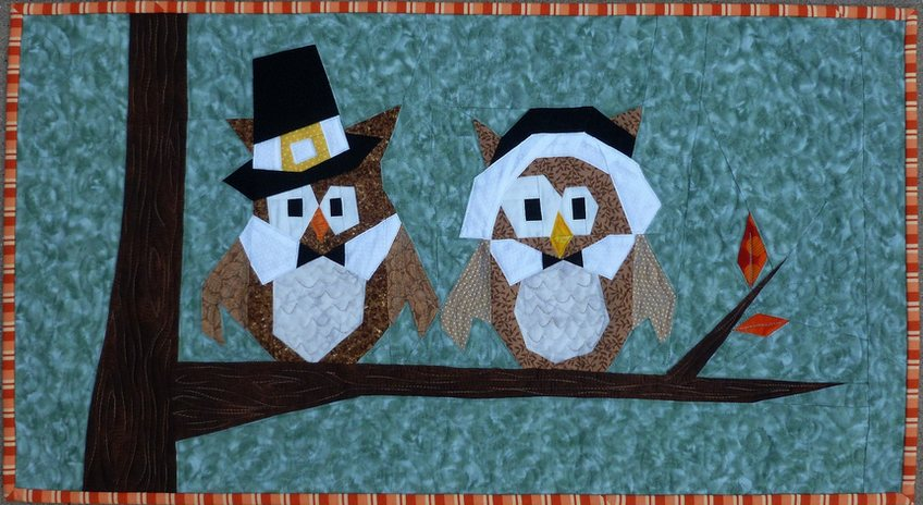 Lisa Marie Pilgrim Owls table runner.JPG