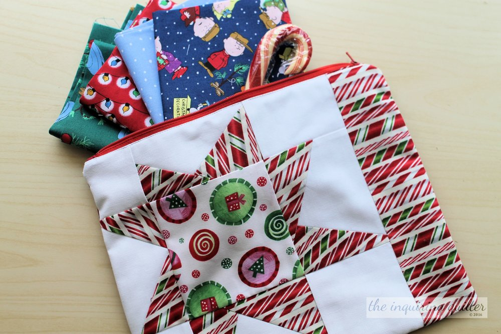 I made this wonky Christmas star pouch as part of the 12 Days of Christmas blog hop in 2016. Such fun!