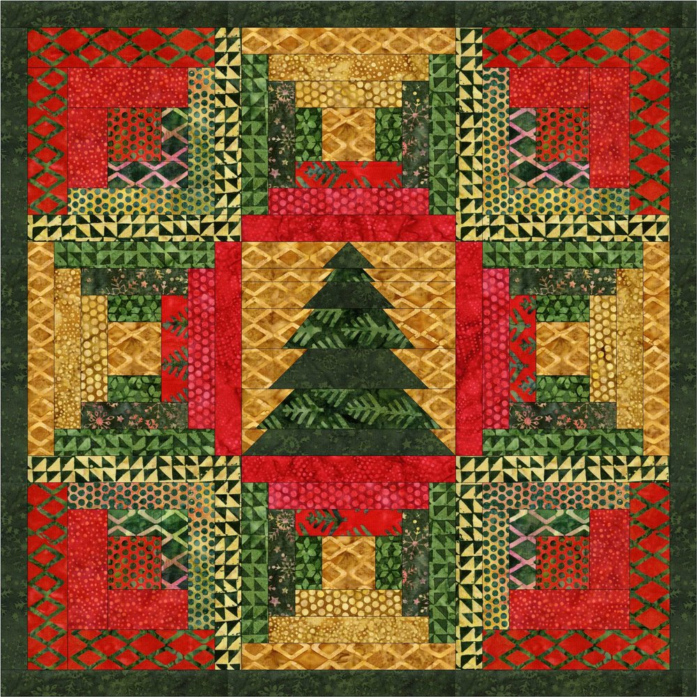 I created Christmas in the Cabin as part of the Island Batik November 2018 challenge