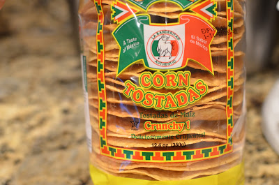 6-inch crispy corn tostadas