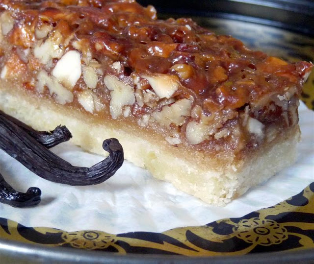 ButterYum's Vanilla Nut Bars.  better than pecan squares recipe.  recipe for mixed nut pecan bars.  better pecan bar recipes.  recipe for pecan bars using other nuts.  Ina's pecan bar recipe.  barefoot pecan bar recipe.  vanilla pecan bars.  vanilla nut bars.  butteryum recipes.  butteryum's vanilla nut bar recipe.
