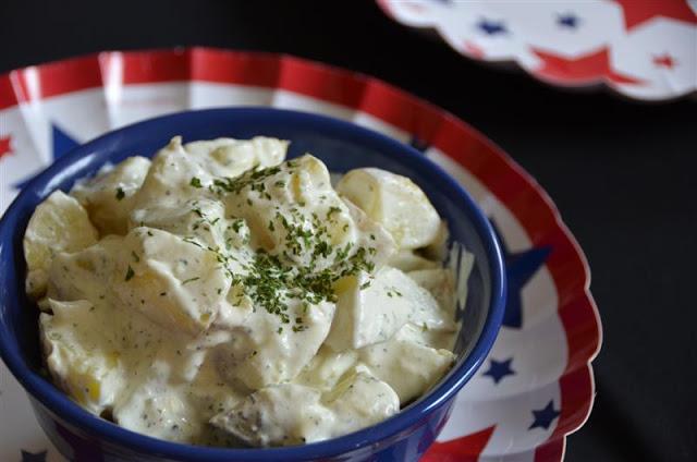 My Dad's Deli-Style Potato Salad - ButterYum.  Deli Potato Salad Recipe.  homemade Potato Salad from scratch.  how to make potato salad.  easy, simple, perfect potato salad recipe.