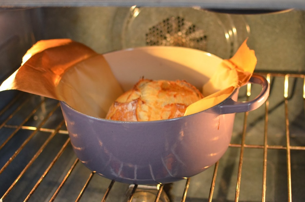 after 30 minutes, uncover the dutch oven and bake for another 15