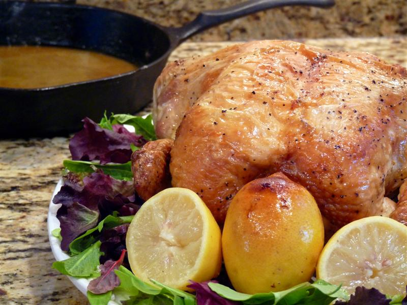 Marcella Hazan's Roast Chicken with Lemons - ButterYum
