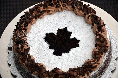 Maple Leaf Chocolate Cake - ButterYum