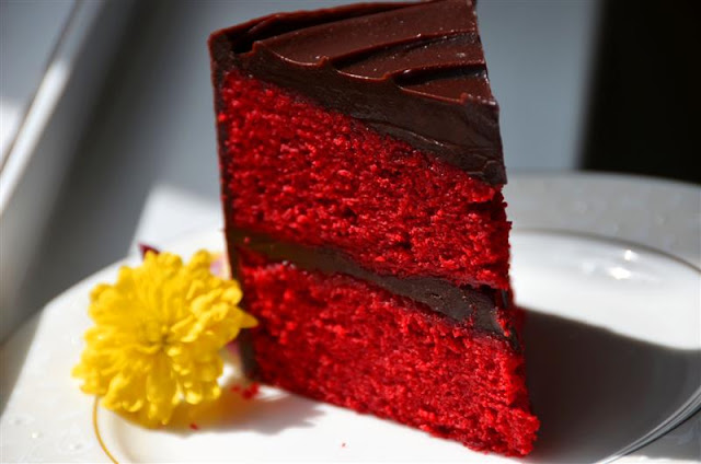 Red Velvet Chocolate Ganache Cake - ButterYum