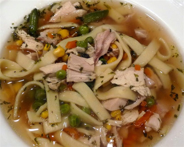 Chicken Noodle Soup, Italian Style - ButterYum.  homemade chicken noodle soup with an italian spin.  how to make scratch chicken noodle soup.  how to make homemade chicken noodle soup.  chicken soup from a rotisserie chicken.