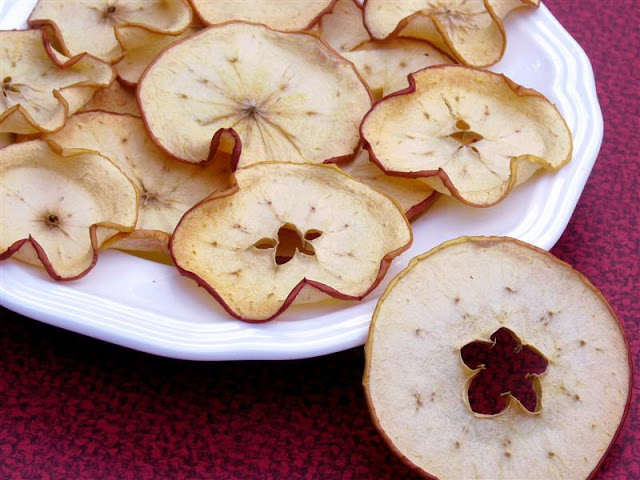 Baked Apple Chips - ButterYum.  oven dried apples.
